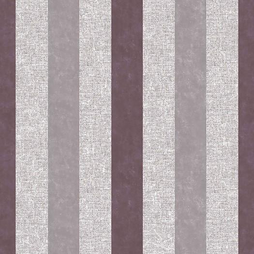 PAPEL PINTADO Rayas con efecto textil y terciopelo burdeos