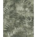 PAPEL PINTADO Frondosidad de hojas de helecho pintadas verde