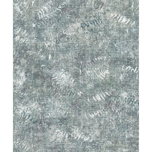 PAPEL PINTADO Textura pintada efecto hojas azul