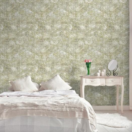 PAPEL PINTADO Textura pintada efecto hojas verde