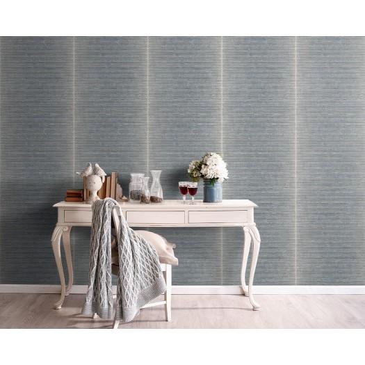 PAPEL PINTADO Textura con rayas horizontales azul