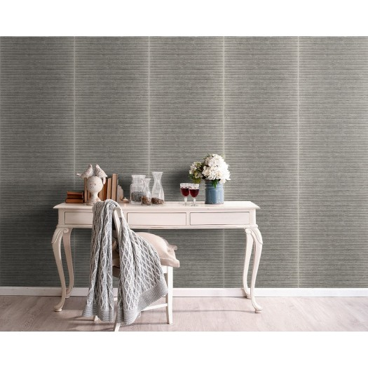 PAPEL PINTADO Textura con rayas horizontales beige