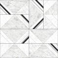 PAPEL PINTADO Geométrico mármol negro, plata