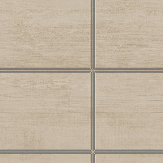 PAPEL PINTADO Cuarterones de madera natural, plata