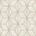 PAPEL PINTADO Geométrico de cubos con texturas blanco