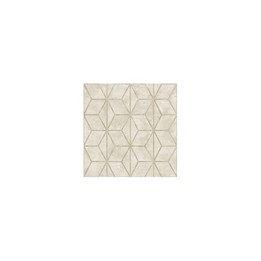 PAPEL PINTADO Geométrico de cubos con texturas beige