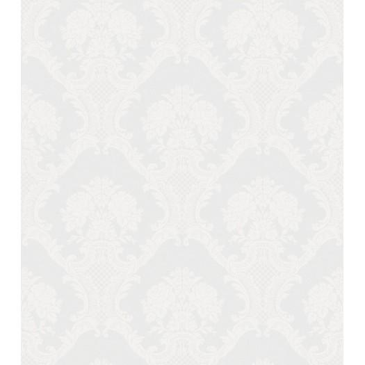 PAPEL PINTADO Damasco textil en dos tonos seda plata
