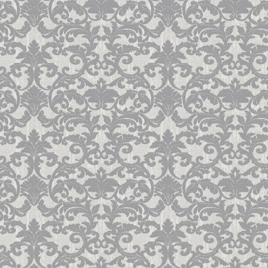 PAPEL PINTADO Damasco brocado en seda gris