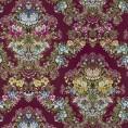 Murales Digitales Diseño Damasco floral hilo seda burdeos multi