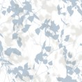 PAPEL PINTADO Hojas y ramas en blur azul - beige