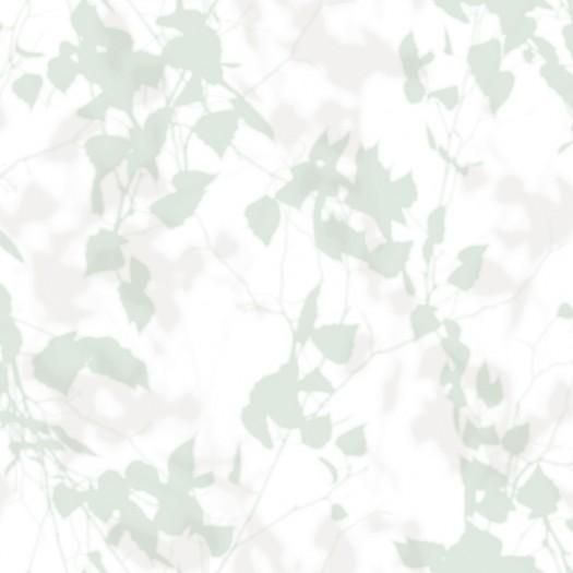 PAPEL PINTADO Hojas y ramas en blur verde-beige