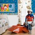 CENEFA Marcianos Gris y Multicolor 13,25 cm x 5 m