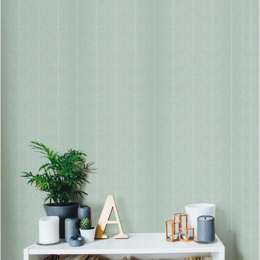 PAPEL PINTADO Diseño en zig-zag verde