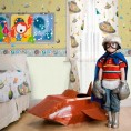 CENEFA Marcianos Gris claro y Multicolor 13,25 cm x 5 m