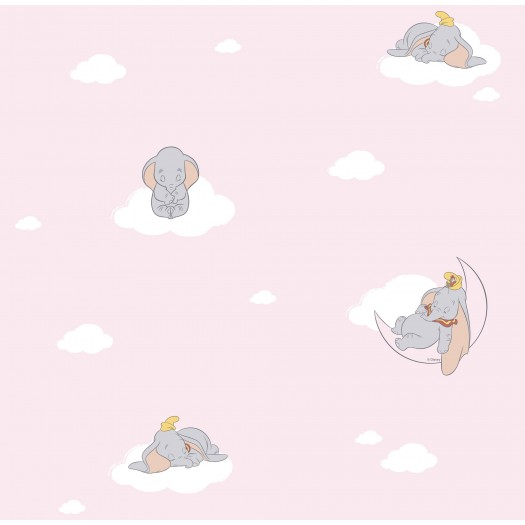 PAPEL PINTADO Dumbo dormilón Rosa