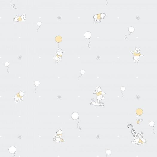 PAPEL PINTADO Winnie the pooh y globos Gris