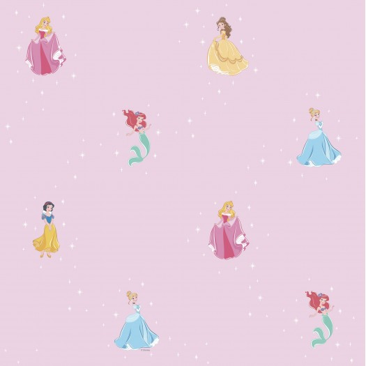 PAPEL PINTADO Princesas Disney Rosa