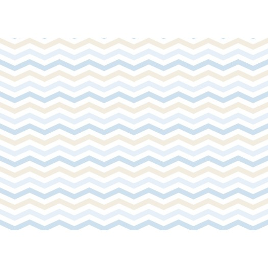 PAPEL PINTADO Estampado de Zigzag Azul