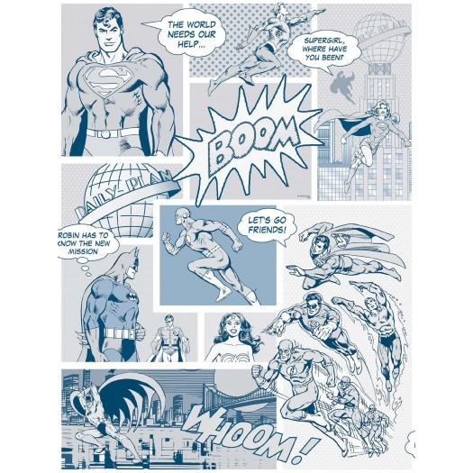 PAPEL PINTADO Comic DC Friends Azul