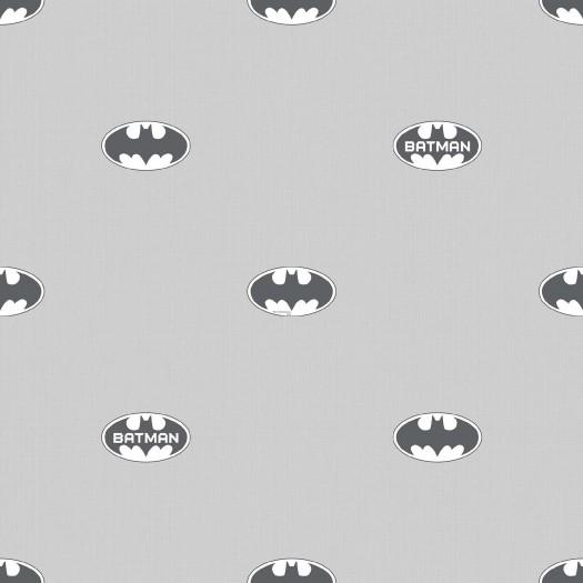 PAPEL PINTADO Comic Logo Batman gris
