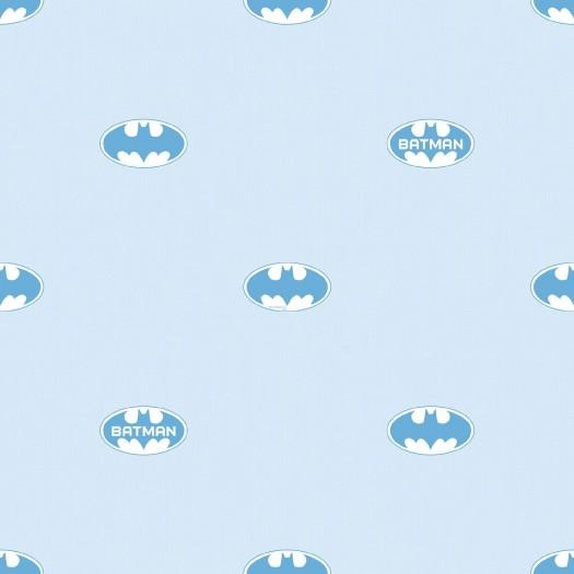 PAPEL PINTADO Comic Logo Batman Azul