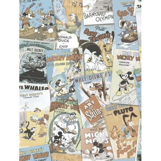 PAPEL PINTADO Comic Disney Covers Multicolor