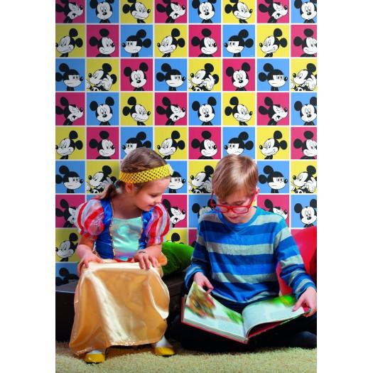 PAPEL PINTADO Disney Mickey pictures Multicolor