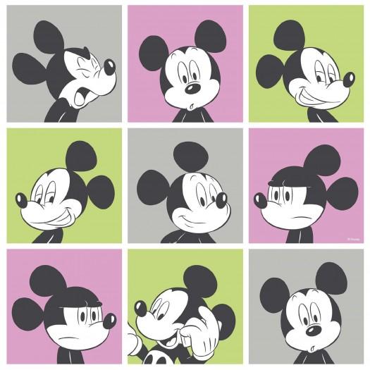 PAPEL PINTADO Disney Mickey pictures gris, rosa, verde