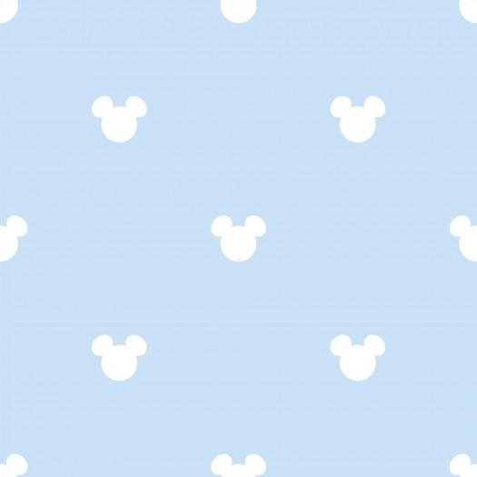 PAPEL PINTADO Disney Mickey Logo Azul