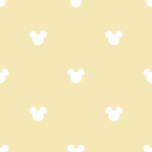 PAPEL PINTADO Disney Mickey Logo amarillo