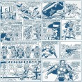 PAPEL PINTADO Comic Superman Classic azul