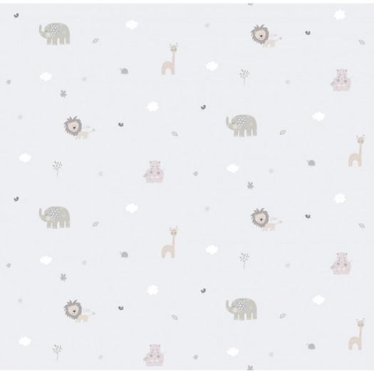 PAPEL PINTADO Jungle gris