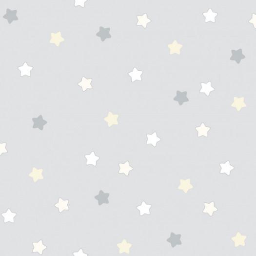 PAPEL PINTADO Étoiles gris amarill