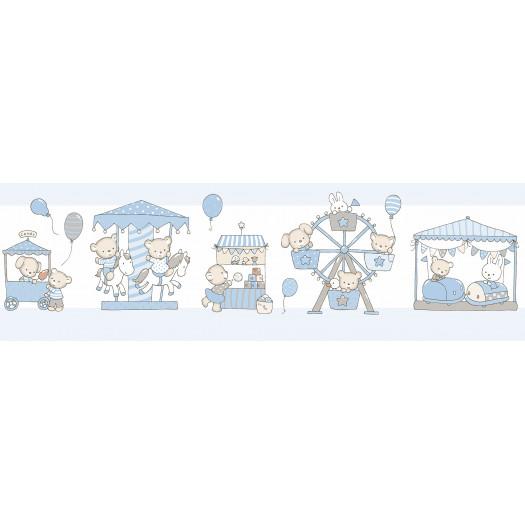 CENEFAS Cenefa Carousel azul