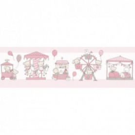 CENEFAS Cenefa Carousel rosa