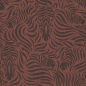 PAPEL PINTADO Motivo De Cebras Terracotta