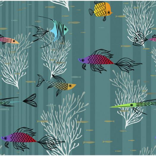 PAPEL PINTADO TRULLY FISH OCEAN