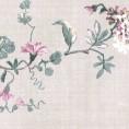 PAPEL PINTADO Flor textil Gris