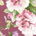PAPEL PINTADO Flor clásica Granate