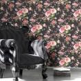 PAPEL PINTADO Flor clásica Negro
