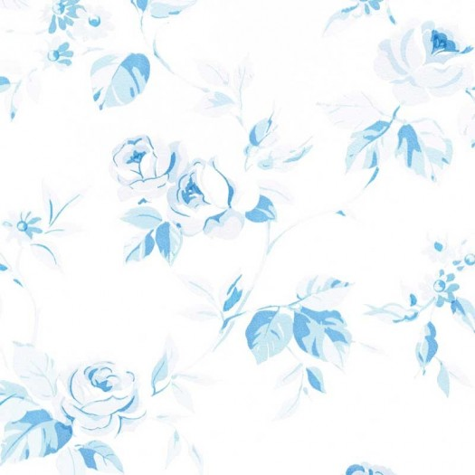 PAPEL PINTADO Flor mediana Azul