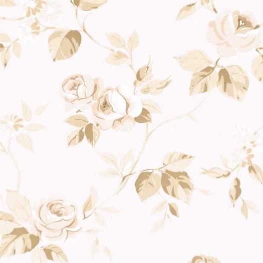 PAPEL PINTADO Flor mediana Beige