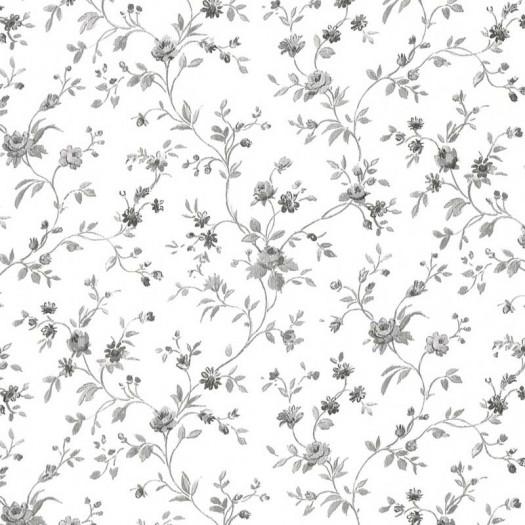 PAPEL PINTADO Flor pequeña Negro