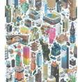 PAPEL PINTADO Ciudad 3D Multicolor Fluor