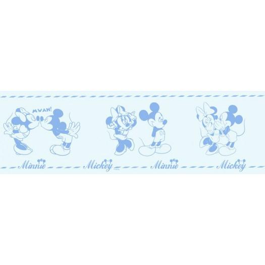 CENEFA Mickey & Minnie Azul 16cm x 5 m