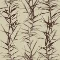 PAPEL PINTADO Hojas de bambú I Beige y Marrón
