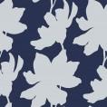 PAPEL PINTADO Flores Azul y Plata